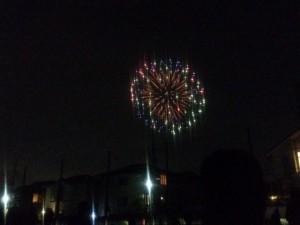 お祭りの最後を飾る花火